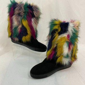Penny Loves Kenny Airbrush Boots Colorful Size 12